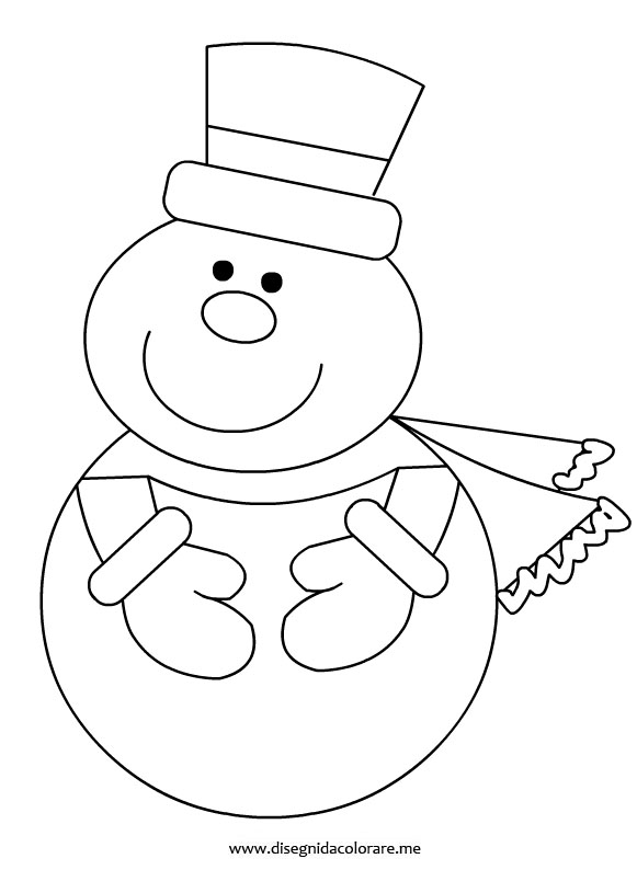 Pupazzo di neve disegni da colorare - Pupazzo di neve pagine da colorare ...