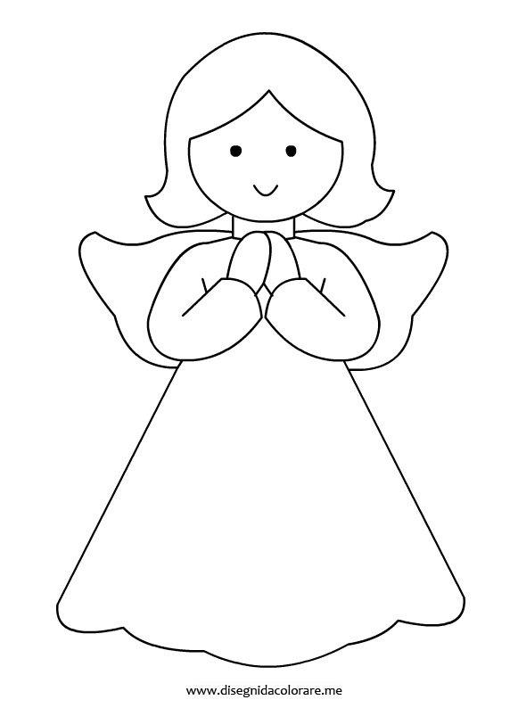 Angelo da colorare disegni da colorare for Disegni da colorare angeli