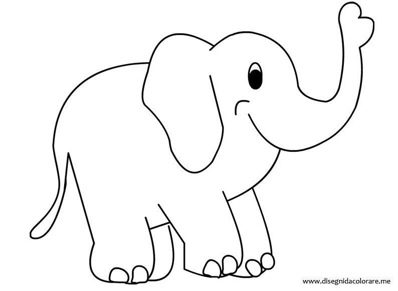 Elefante da colorare disegni da colorare for Cavallo da disegnare per bambini