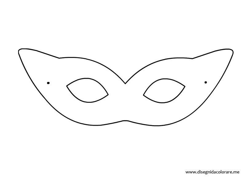Maschera di carnevale da ritagliare disegni da colorare for Mascherina carnevale da colorare