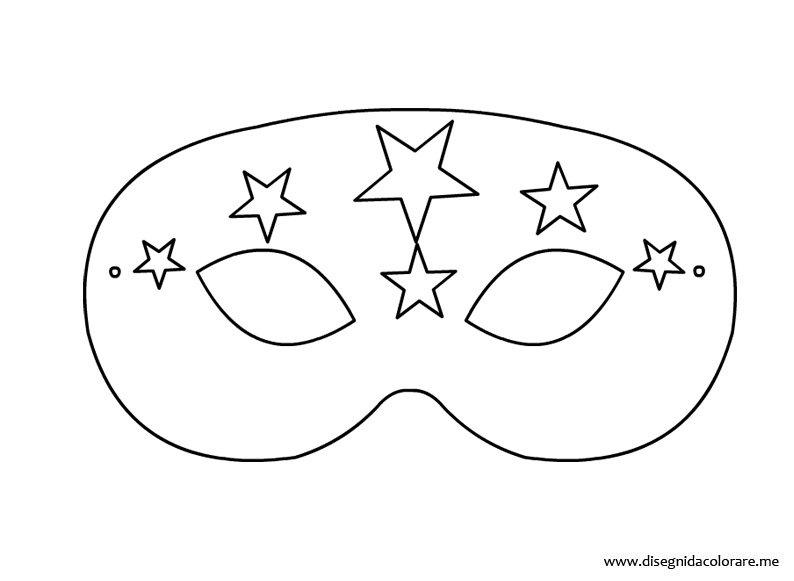 Maschera di carnevale gratis disegni da colorare for Maschere stampabili