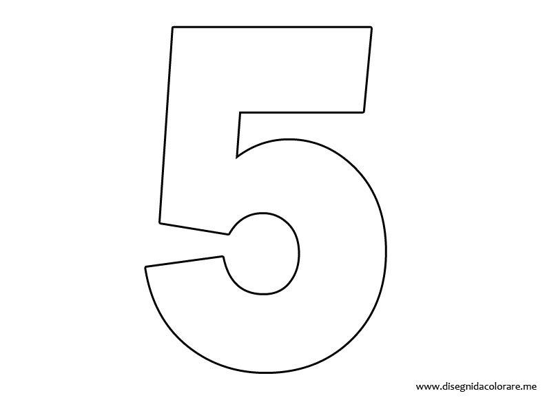 Numeri da colorare 5 disegni da colorare - Numeri per tavoli da stampare ...