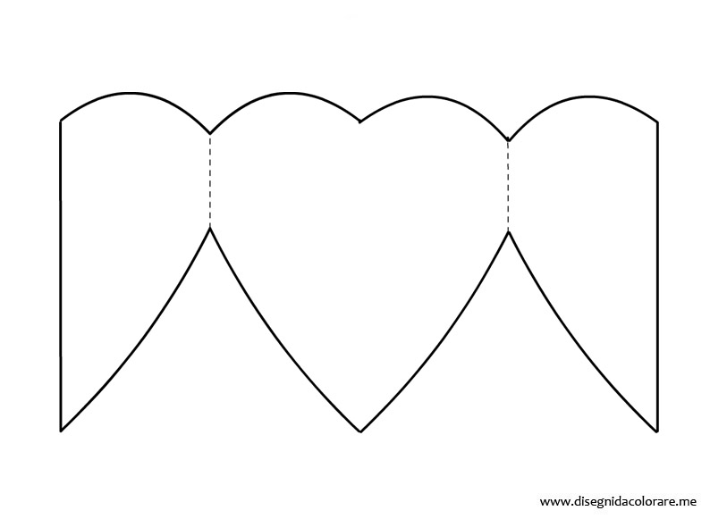 Biglietto san valentino cuore disegni da colorare for Disegni di cuori da stampare gratis