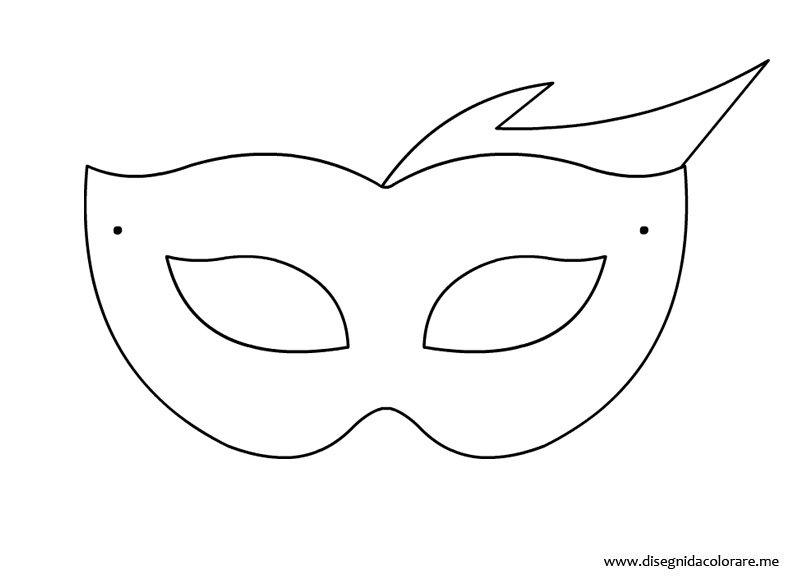 Maschera di carnevale disegni da colorare for Maschera di flash da colorare