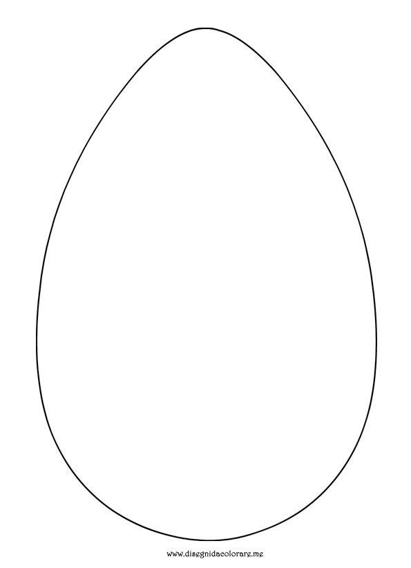 Sagoma uovo di pasqua disegni da colorare for Disegno coniglio per bambini