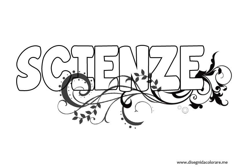 Copertina di scienze da colorare disegni