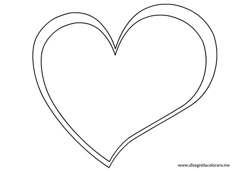 Sagoma cuore disegni da colorare for Sole disegno da colorare