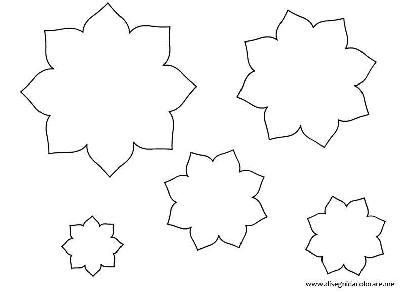 Sagome fiori di varie grandezze disegni da colorare for Disegni da stampare colorare e ritagliare
