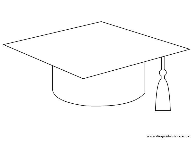 Tocco laurea disegno disegni da colorare for Cappello disegno da colorare