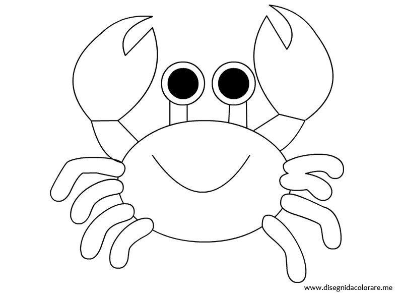 Granchio da colorare disegni da colorare - Clip art animali marini ...