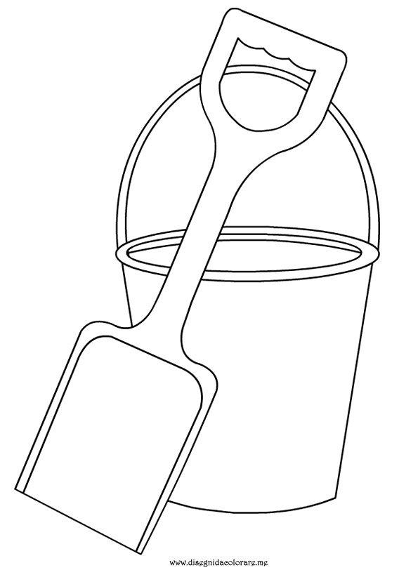 Estate secchiello e paletta disegni da colorare for Disegni di scantinati di sciopero