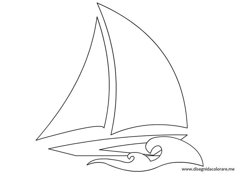 Barca a vela da colorare | Disegni da colorare