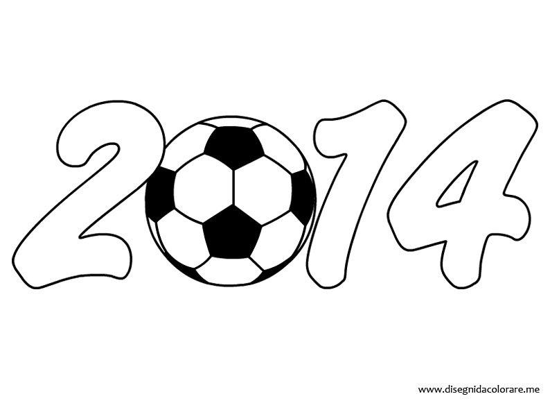 Mondiali calcio 2014 disegni da colorare for Disegni pesciolini da colorare