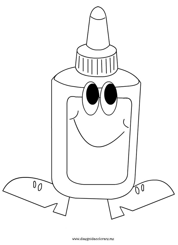 glue bottle coloring pages | Glue Coloring Page Printable Sketch Coloring Page