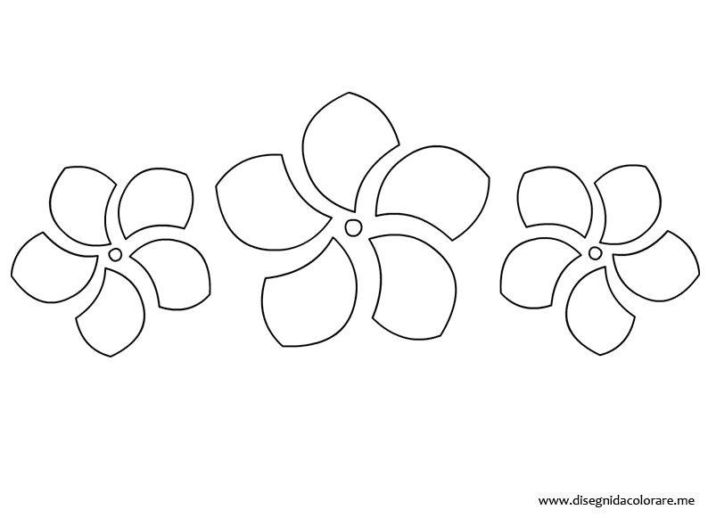 Fiori stilizzati disegni da colorare for Disegni di casa da stampare