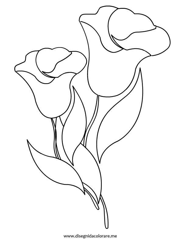 Fiori a campanella disegni da colorare - Immagini da colorare di rose ...