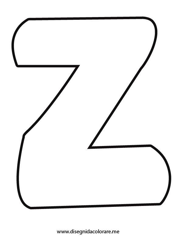 Lettera Z da colorare   Disegni da colorare
