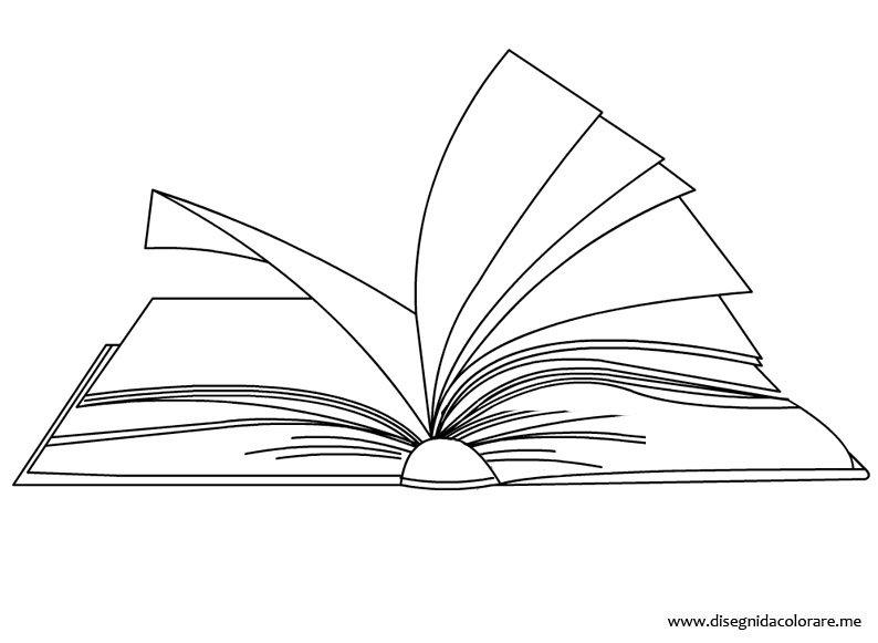 Libro aperto da colorare disegni da colorare - Toddler libro da colorare ...