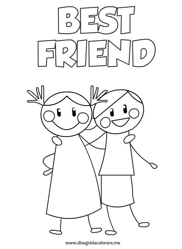 Disegni amicizia disegni da colorare for Disegnare la mia planimetria