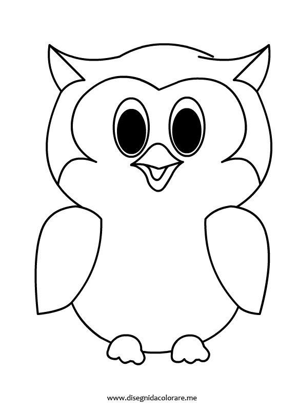 Gufo da colorare disegni da colorare for Disegni da stampare colorare e ritagliare