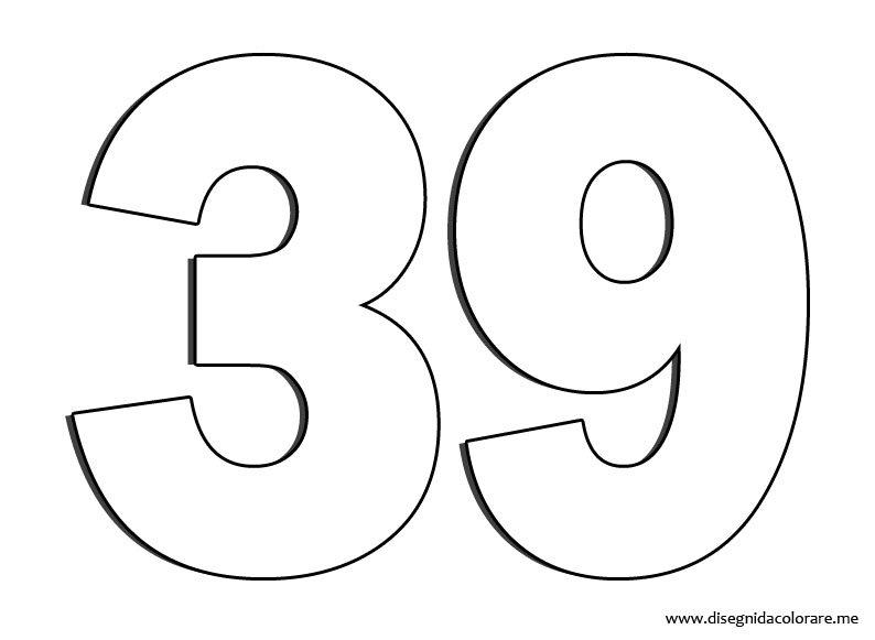 Numero 39 disegni da colorare - Numeri per tavoli da stampare ...