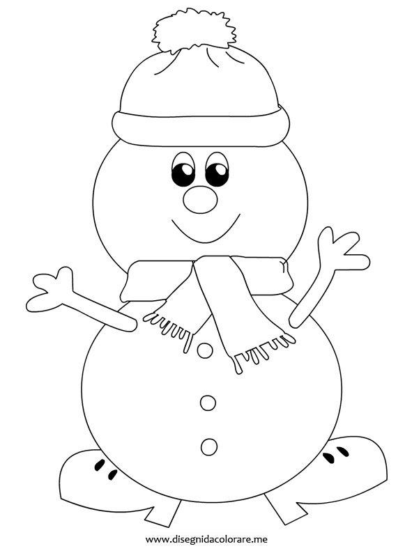 Disegni inverno pupazzo di neve disegni da colorare - Pupazzo di neve pagine da colorare ...