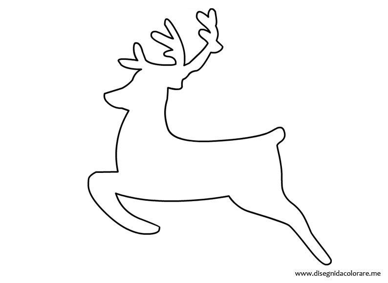 Sagoma renna da ritagliare disegni da colorare for Immagini natalizie da colorare