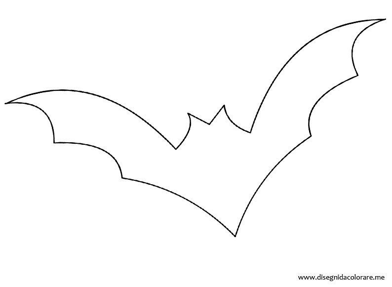 Sagoma pipistrello halloween disegni da colorare - Immagini pipistrello da stampare ...