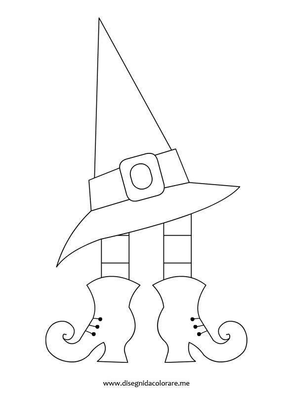 Scarpe e cappello strega disegni da colorare for Disegno pagliaccio da colorare