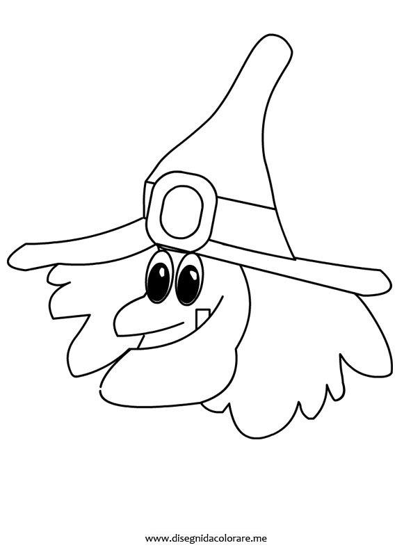 Halloween strega da colorare disegni da colorare - Come disegnare immagini di halloween ...