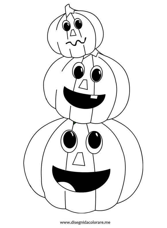 Zucche di halloween da colorare disegni da colorare for Immagini halloween da colorare e stampare
