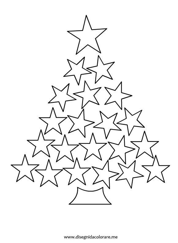 Albero di natale con stelle disegni da colorare for Immagini natalizie da colorare