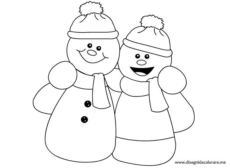 Pupazzi di neve da colorare disegni da colorare - Stampare pagine da colorare ...