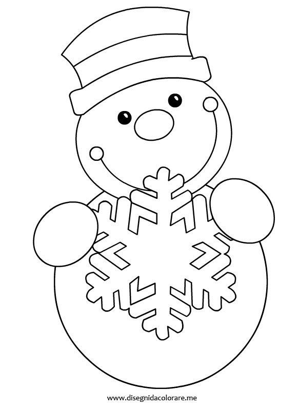 Pupazzo di neve da colorare disegni da colorare - Fiocco di neve da colorare foglio da colorare ...