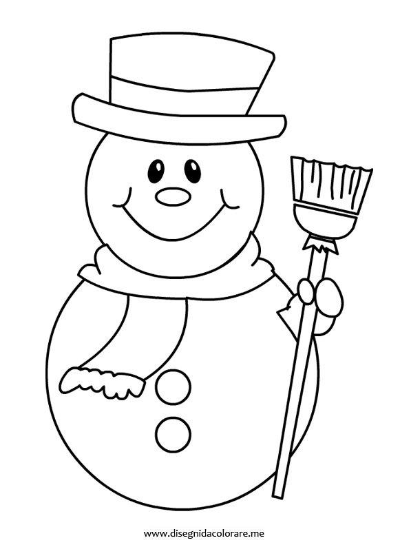 Disegni inverno da colorare pupazzo di neve disegni da - Fiocco di neve da colorare foglio da colorare ...