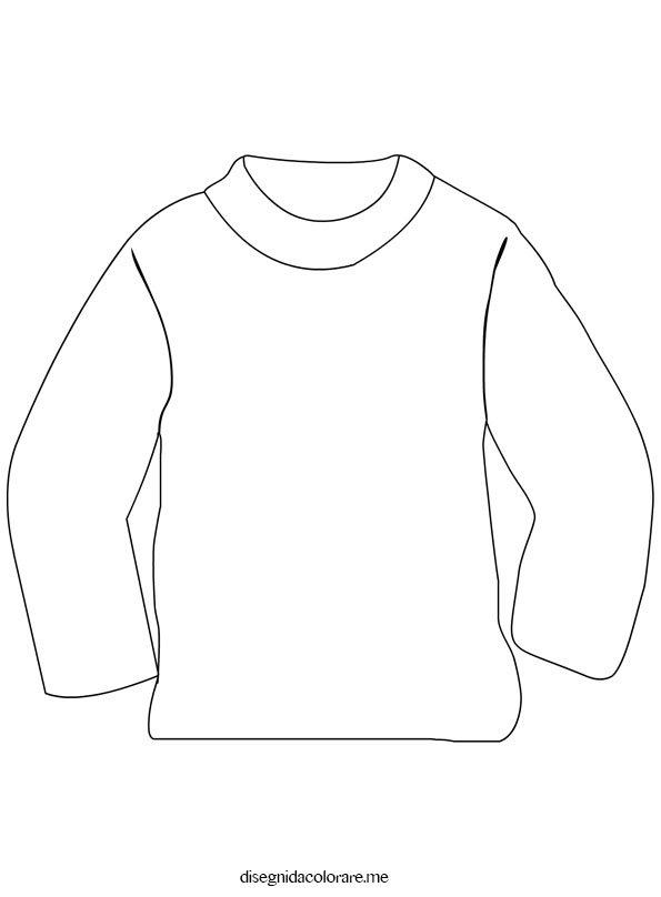 Maglione da colorare disegni da colorare for Disegni da stampare colorare e ritagliare