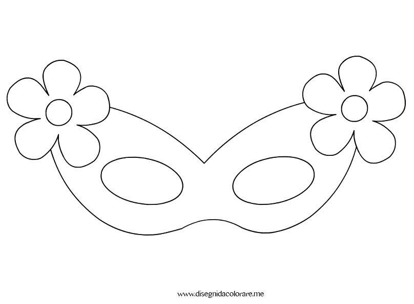 Mascherina di carnevale per bambina disegni da colorare for Disegni da colorare e stampare carnevale