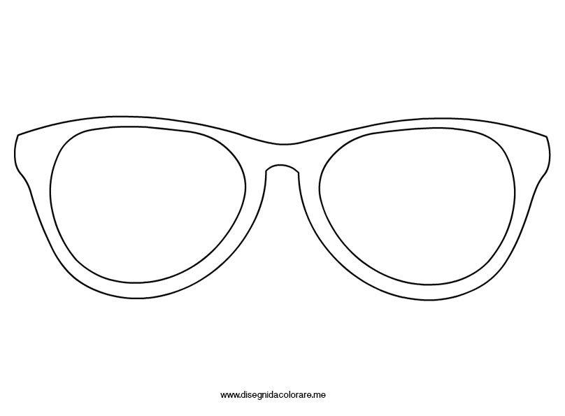 Disegno occhiali pagliaccio disegni da colorare for Immagini sole da colorare