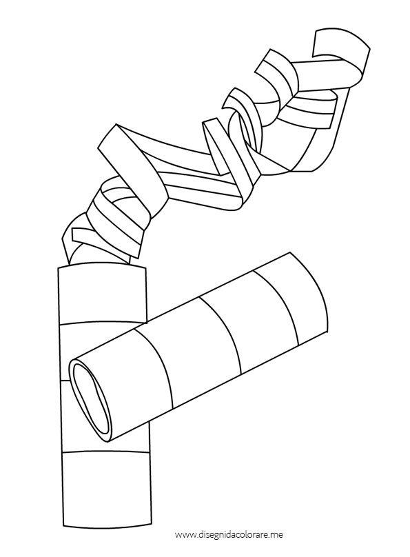 Disegni carnevale stelle filanti disegni da colorare for Disegno pagliaccio da colorare