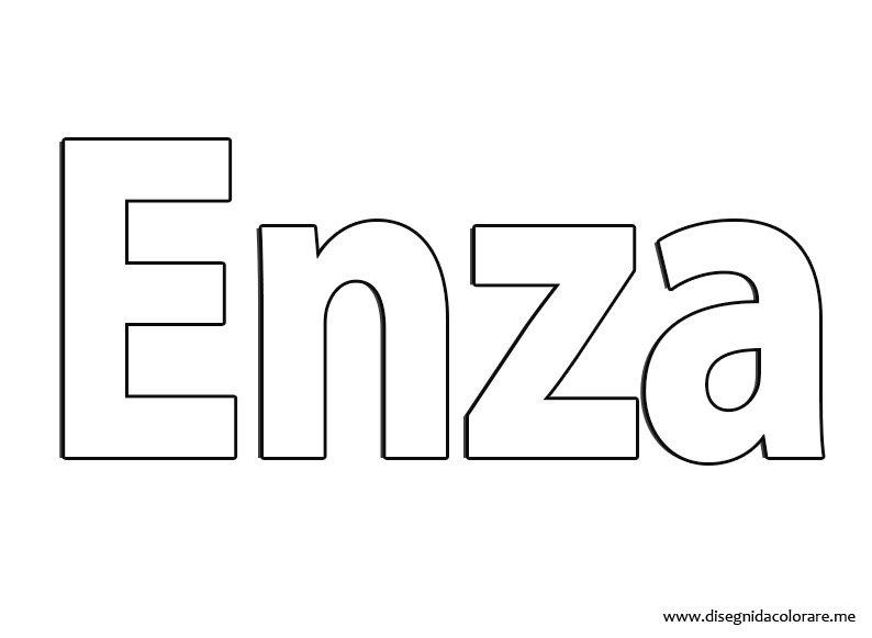 Nome Enza - Disegni da...