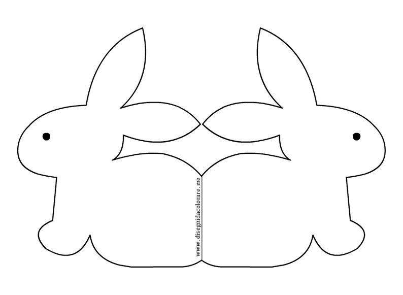 Biglietto di pasqua con coniglio disegni da colorare for Disegno coniglio per bambini