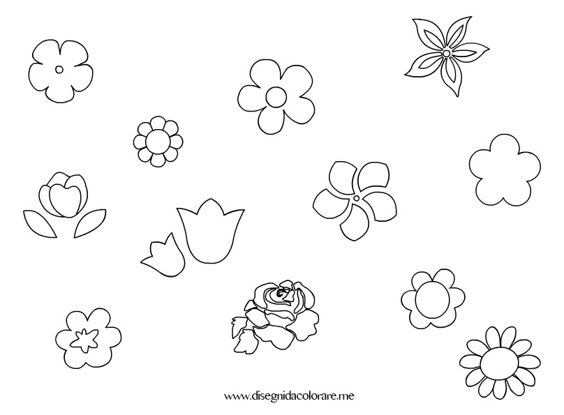 Fiori piccoli disegni da colorare for Fiori stilizzati colorati