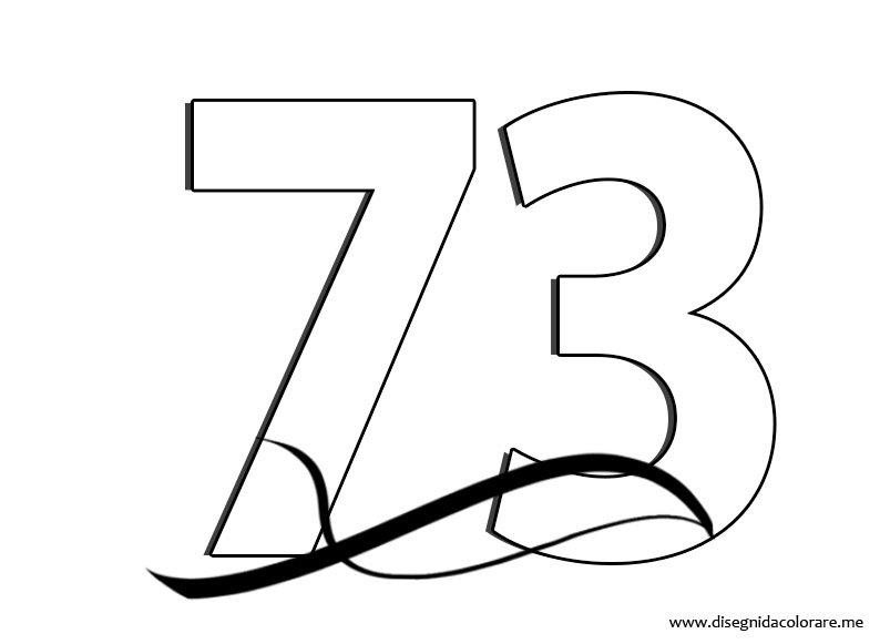 Numero 73 Disegni Da Colorare