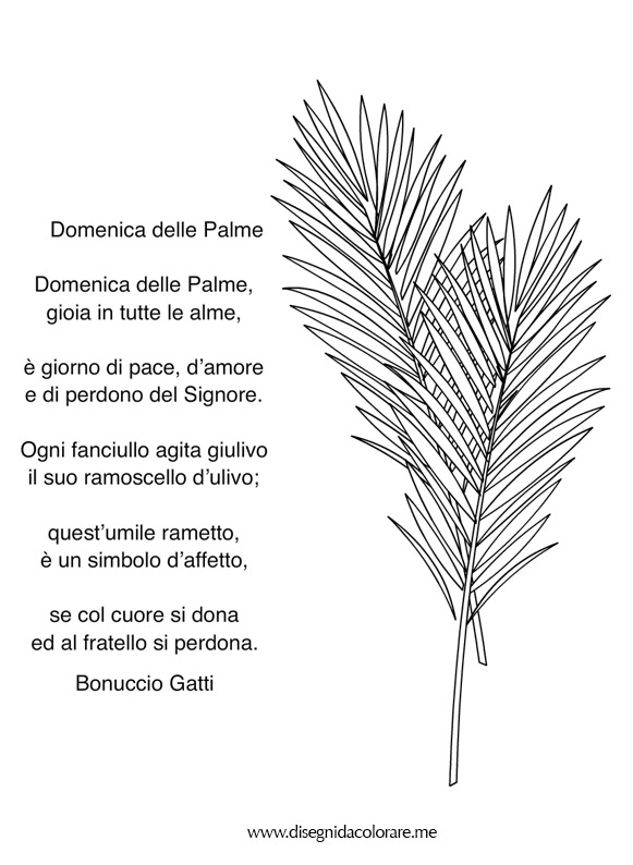 Auguri Matrimonio Papa Francesco : Poesia domenica delle palme disegni da colorare