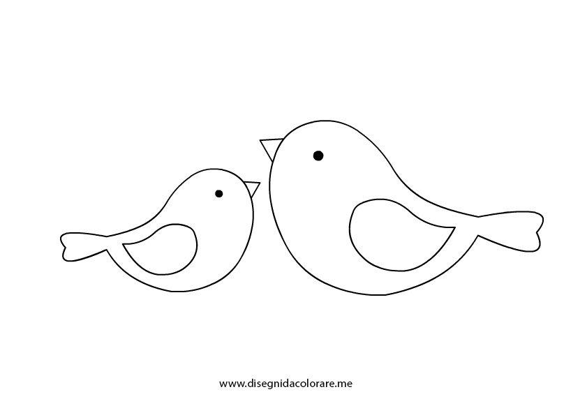 Uccellini da colorare disegni da colorare for Disegno gatto facile