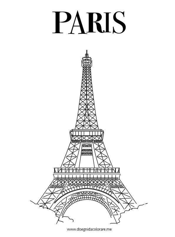 Parigi torre eiffel disegni da colorare - Immagini in francese per bambini ...