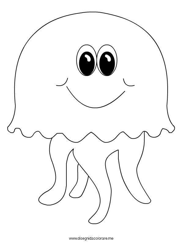 Medusa da colorare disegni da colorare for Immagini di pesci da stampare