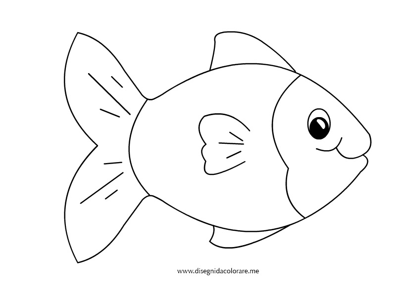 elegante disegni pesci belli marini da colorare migliori