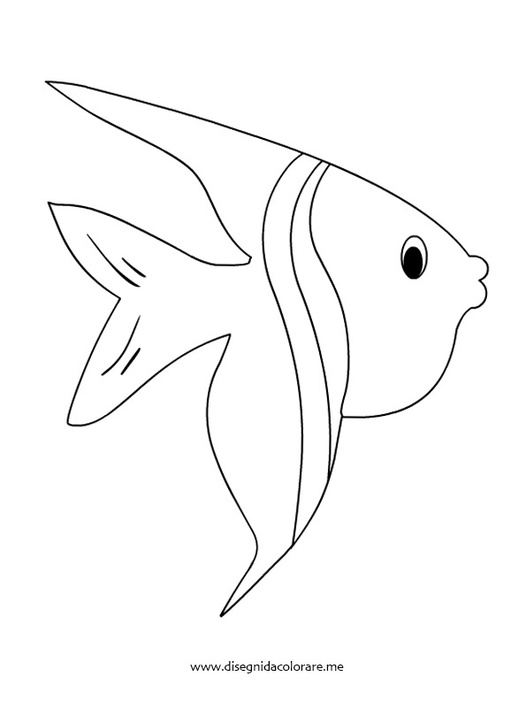 Pesce tropicale da colorare disegni da colorare for Disegni di pesci da stampare e colorare
