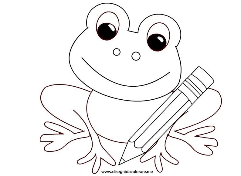 Rana con matita disegni da colorare for Disegni da stampare colorare e ritagliare